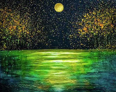 Painting - Night Landscape by Lilia D