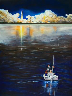 Night Launch Art Print by Dorothy Riley