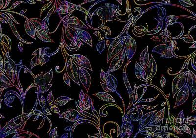 Artwork Digital Art - Night Leafs 2 by Prar Kulasekara