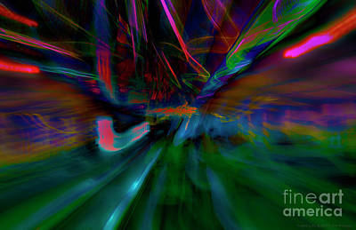 Digital Art - Night Life Abstract  by Jim  Plaxco