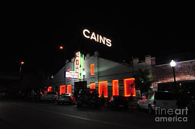 Cains Ballroom Photograph - Night Life by Terry Anderson