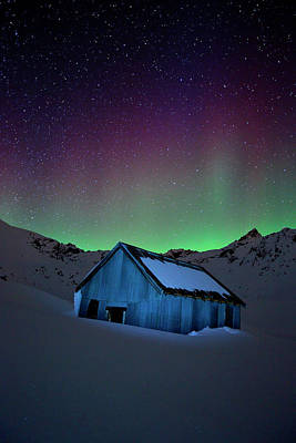 Independence Mine Photograph - Night Light by Ed Boudreau