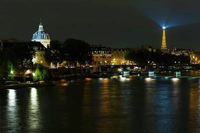 Photograph - Night Light Over Paris  by Hany J