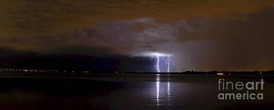 Thunder Photograph - Night Light by Quinn Sedam