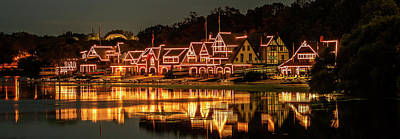 Night Lights At Boathouse Row Art Print