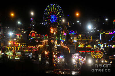 Florida State Fair Photograph - Night Lights At The Fair by David Lee Thompson
