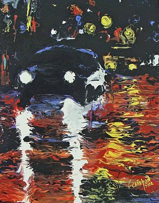 Night Lights Original by Brian Carlton