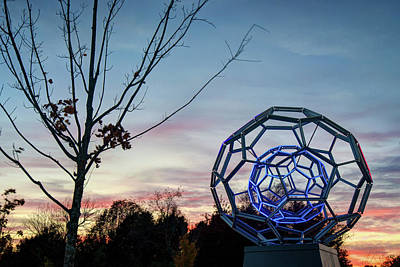 Photograph - The Light Within - Buckyball Crystal Bridges Museum by Gregory Ballos