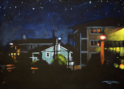 Painting - Night Lights by Christopher Reid