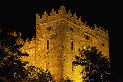 National Past Time Photograph - Night Lights Illuminating Bunratty by Michael Interisano