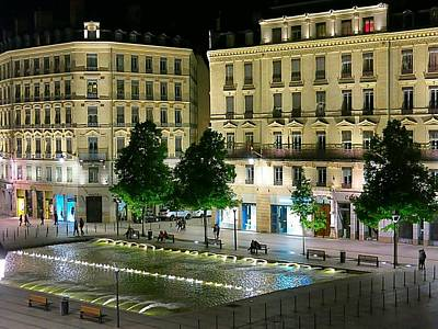 Photograph - Night Lights In Lyon by Betty Buller Whitehead