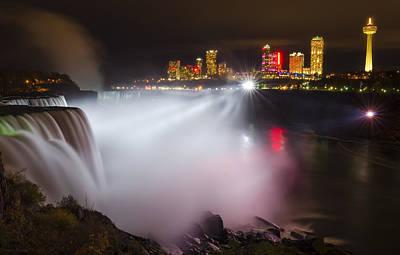 Niagara Falls Photograph - Night Lights by Mark Papke