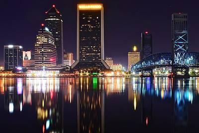 Night Lights Of Jacksonville Art Print