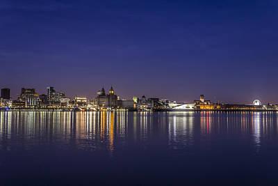 Night Lights Of Liverpool Art Print