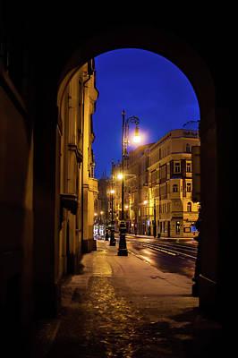 Photograph - Night Lights Of Prague Streets by Jenny Rainbow