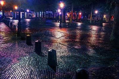 Photograph - Night Lights Of Utrecht 1. Netherlands by Jenny Rainbow