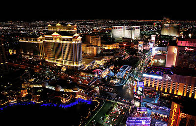 Photograph - Night Lights Of Vegas by Marilyn Hunt