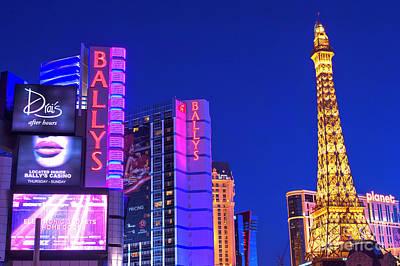 Photograph - Night Lights On The Strip by John Rizzuto