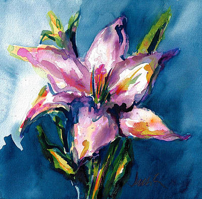 Painting - Night Lily by Jacki Kellum