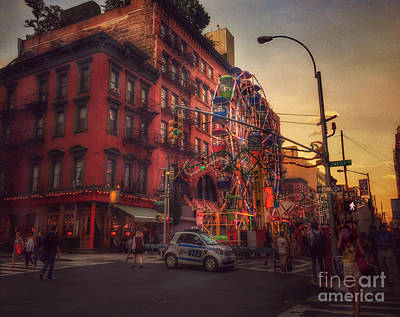 Photograph - Night Magic - At The Feast Of San Gennaro by Miriam Danar