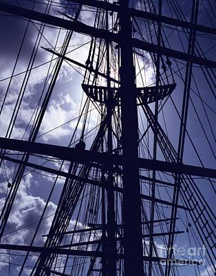 Photograph - Night Mast by John Bowers
