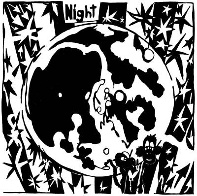 Learn To A Maze Drawing - Night Maze by Yonatan Frimer Maze Artist