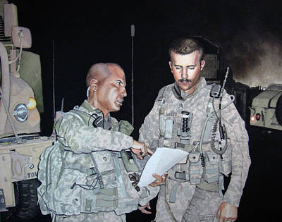 Iraqi Painting - Night Mission Briefing by Jennifer Oakley-Delaplante