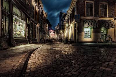 Night Moods - Leiden Art Print