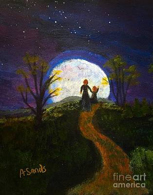 Painting - Full Moon by Anne Sands