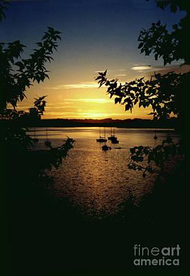 Glenmore Reservoir Photograph - Night Mooring by Al Bourassa