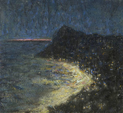 Pastel - Night Motif From Capri by Ants Laikmaa