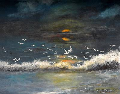 Painting - Night Moves by Shirley Lawing