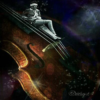Digital Art - Night Music by Delight Worthyn