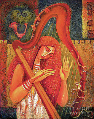 Painting - Night Music II by Eva Campbell