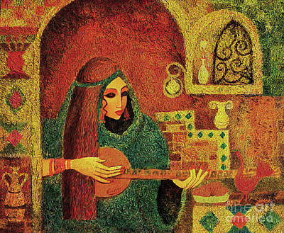 Painting - Night Music 3 by Eva Campbell
