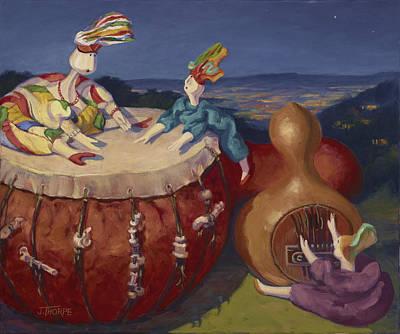 Painting - Night Music by Jane Thorpe