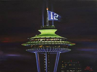 Night Needle 12th Man Style Original by Terri M Hanson