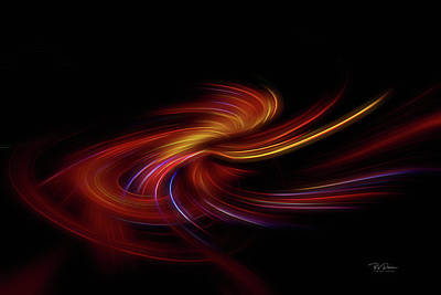 Digital Art - Night Neon by Bill Posner