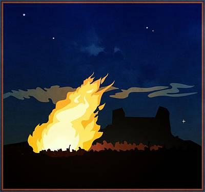 Revolt Digital Art - Night Of The Bonfire by Darla Hallmark