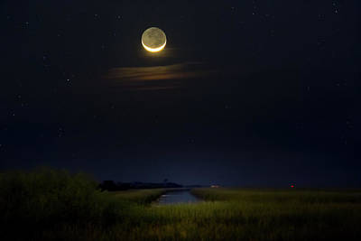 Photograph - Night Of The Crescent Moon by Mark Andrew Thomas