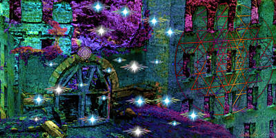 Digital Art - Night Of The Fae by Iowan Stone-Flowers