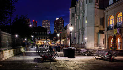 Photograph - Night On Jackson Square by Greg Mimbs