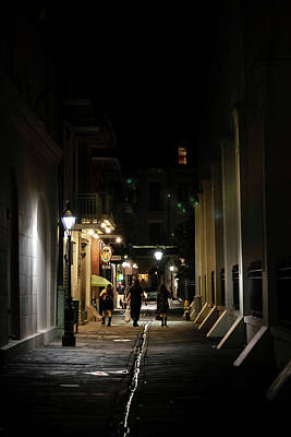 People Photograph - Night On Pirate Alley by Chrystal Mimbs