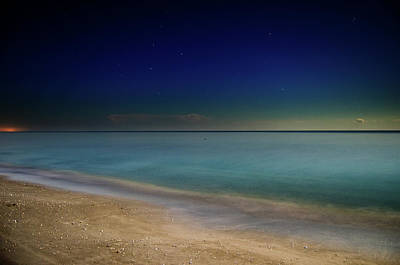 Stars Photograph - Night On Sanibel Island Beach by Greg Mimbs
