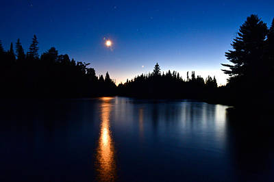 Photograph - Night On The Ausable 5736 by Michael Peychich