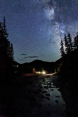Photograph - Night On The Blue River by Cat Connor