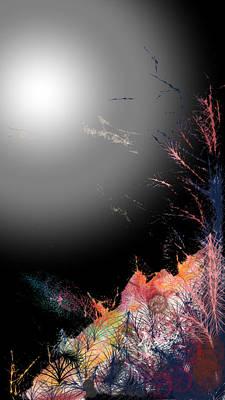 Digital Art - Night On The Hill by Arjun L Sen