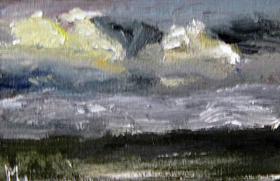 Painting - Night On The Marsh by Michael Helfen