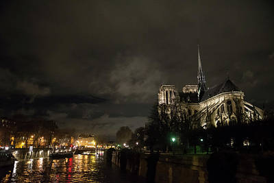 Photograph - Night On The Seine by Alex Lapidus