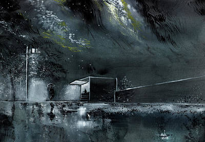 Painting - Night Out by Anil Nene